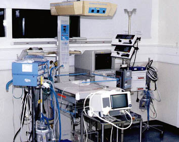 The Intensive Care Equipment which supported Daniel