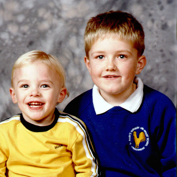 Daniel aged two and a half & Christopher aged 7 years